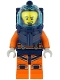 Minifig No: cty1164  Name: Deep Sea Diver - Male, Dark Blue Helmet, Lopsided Grin