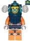 Minifig No: cty1170  Name: Deep Sea Diver - Male, Dark Blue Helmet, Side Lamps, Glasses, Smile / Shocked