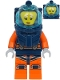 Minifig No: cty1178  Name: Deep Sea Diver - Female, Dark Blue Helmet, Pensive Smile / Scared