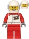 Minifig No: cty1197  Name: Helicopter Pilot - White Jacket with 'XTREME' Logo, Red Legs, White Helmet
