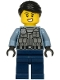 Minifig No: cty1206  Name: Police Officer - Rooky Partnur, Sand Blue Jacket