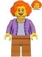 Minifig No: cty1216  Name: Mom - Medium Lavender Jacket, Medium Nougat Legs, Orange Hair