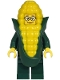 Minifig No: cty1222  Name: Mayor Fleck - Dark Green Suit Jacket, Corn Cob Costume