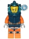 Minifig No: cty1224  Name: Deep Sea Diver - Male, Dark Blue Helmet, Side Lamp, Stubble