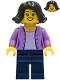 Minifig No: cty1234  Name: Mom - Medium Lavender Jacket, Dark Blue Legs, Black Hair