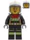 Minifig No: cty1250  Name: Fire Fighter, Female - Sarah Feldman