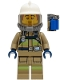Minifig No: cty1253  Name: Fire Fighter - Bob