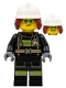 Minifig No: cty1254  Name: Fire Fighter, Female - Freya McCloud, Black Suit