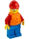 Minifig No: cty1273  Name: Beach Rescue with Life Preserver