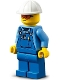 Minifig No: cty1274  Name: Roadwork Truck Driver