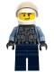 Minifig No: cty1285  Name: Police Officer - Sand Blue Police Jacket, Dark Blue Legs, White Helmet