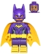 Minifig No: dim044  Name: Batgirl, Yellow Cape, Dual Sided Head with Smile/Scared Pattern (Figure Only)
