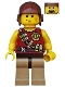 Minifig No: dino001  Name: Hero - Tranquilizer Belt
