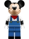 Minifig No: dis042  Name: Mickey Mouse - Blue Overalls, Red Bandana
