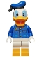 Minifig No: dis053  Name: Donald Duck - Plaid Shirt with Yellow Buttons