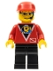 Minifig No: div010  Name: Divers - Control 2, Black Legs, Red Cap