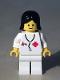 Minifig No: doc016new  Name: Doctor - Stethoscope, White Legs, Black Female Hair Reissue