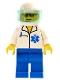 Minifig No: doc017  Name: Doctor - EMT Star of Life, Blue Legs, White Helmet, Trans-Light Blue Visor
