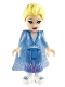 Minifig No: dp069  Name: Elsa - Glitter Cape with Two Tails, Medium Blue Skirt with White Shoes