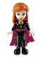 Minifig No: dp073  Name: Anna - Black Dress, Magenta and Dark Purple Cape