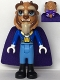 Minifig No: dp126  Name: Beast / Prince Adam - Large Eyes and Bow