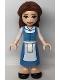 Minifig No: dp128  Name: Belle - Medium Blue Dress, Closed Mouth Smile