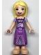 Minifig No: dp133  Name: Rapunzel - Metallic Pink Laced Dress