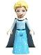 Minifig No: dp136  Name: Elsa - Medium Azure Skirt, Medium Blue Long Narrow Glitter Cape