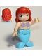 Minifig No: dupmermaid02  Name: Duplo Figure, Disney Princess, Ariel / Arielle, Medium Azure Tail (Mermaid)