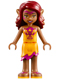 Minifig No: elf016  Name: Azari Firedancer, Bright Light Orange