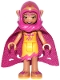 Minifig No: elf022  Name: Azari Firedancer, Bright Light Orange with Long Cape and Hood