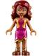 Minifig No: elf036  Name: Azari Firedancer, Magenta and Gold