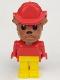 Minifig No: fab2g  Name: Fabuland Figure Bulldog 6 with Fire Helmet