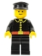 Minifig No: firec008  Name: Fire - Classic, Black Hat, Captain