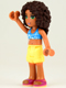 Minifig No: frnd032  Name: Friends Andrea, Bright Light Yellow Shorts, Dark Azure Bikini Top