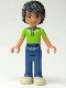 Minifig No: frnd043  Name: Friends Matthew, Dark Blue Trousers, Bright Green Polo Shirt