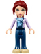 Minifig No: frnd088  Name: Friends Mia, Dark Blue Trousers, Medium Lavender Jacket with Scarf