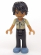 Minifig No: frnd112  Name: Friends Matthew, Black Trousers, Khaki Shirt