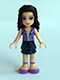 Minifig No: frnd121  Name: Friends Emma, Dark Blue Layered Skirt, Medium Lavender Vest