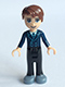 Minifig No: frnd129  Name: Friends David, Black Trousers, Dark Blue Jacket and Tie