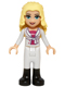 Minifig No: frnd134  Name: Friends Liza, White Riding Pants, Magenta Top and White Jacket with Bow