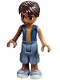 Minifig No: frnd196  Name: Friends Robert, Sand Blue Long Shorts, Blue Sleeveless Hoodie