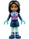 Minifig No: frnd213  Name: Friends Amanda, Dark Blue Skirt, Medium Lavender Vest