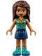 Minifig No: frnd242  Name: Friends Andrea, Dark Blue Skirt, Dark Turquoise Top