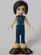 Minifig No: frnd322  Name: Friends Kacey, Dark Blue and Sand Green Wetsuit, Black Flippers