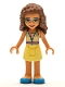 Minifig No: frnd350  Name: Friends Olivia, Bright Light Yellow Dress and Blue Shoes