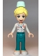 Minifig No: frnd358  Name: Friends Dr. Maria, Dark Turquoise Trousers, White Top