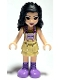 Minifig No: frnd376  Name: Friends Emma, Tan Dress with Straps, Medium Lavender Boots