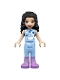 Minifig No: frnd399  Name: Friends Emma, Bright Light Blue Sleepshirt and Trousers, Medium Lavender Boots