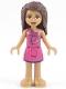 Minifig No: frnd412  Name: Friends Andrea, Magenta Dress